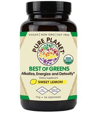 Picture of Pureplanet Best of Greens Organic, Sweet Lemon, 30 servings